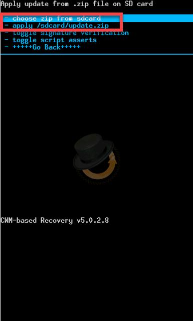 Clockworkmod Андроид установка файлов