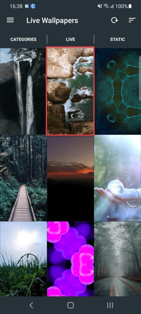 Live Wallpapers — 4K Wallpapers Андроид выбираем заставку