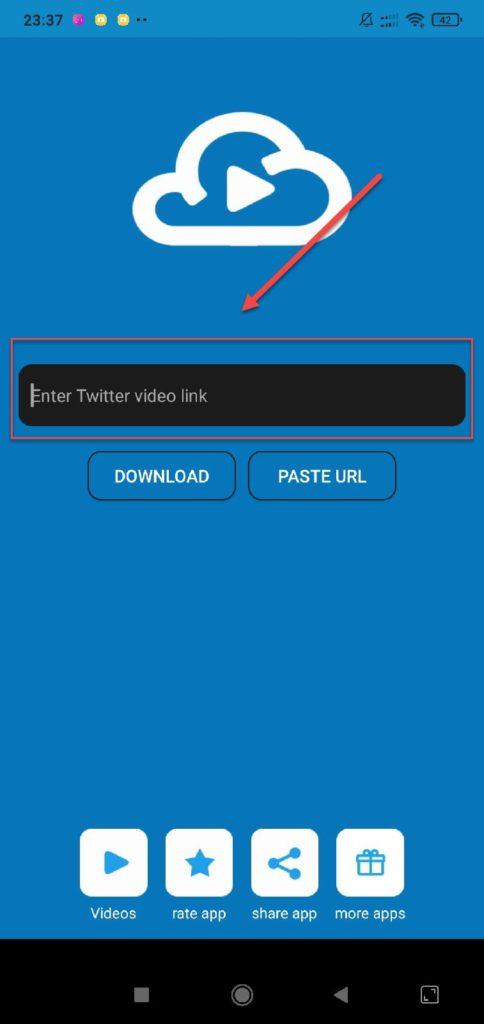 Gif Video Tweet downloader вставляем ссылку Твиттер