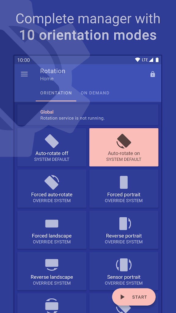 Rotation – Orientation Manager Андроид