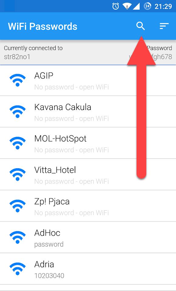 Wi-Fi Passwords поиск точек Вай Фай