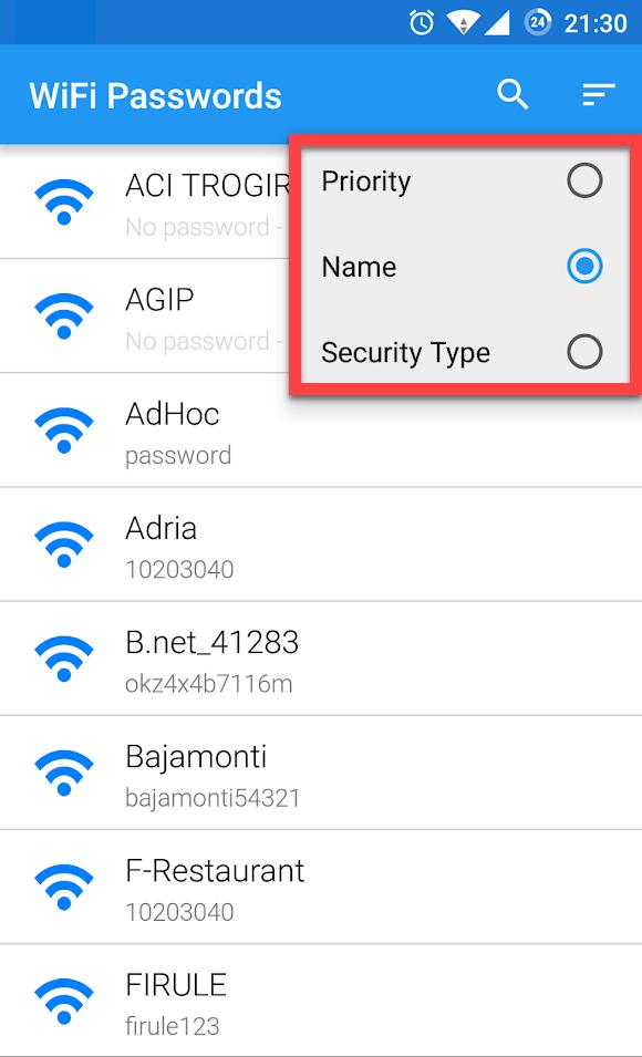 Wi-Fi Passwords сохраненные точки доступа