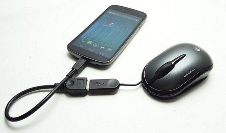 Подключить мышь к Андроиду через USB