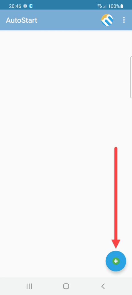 Приложение AutoStart Андроид нажимаем +