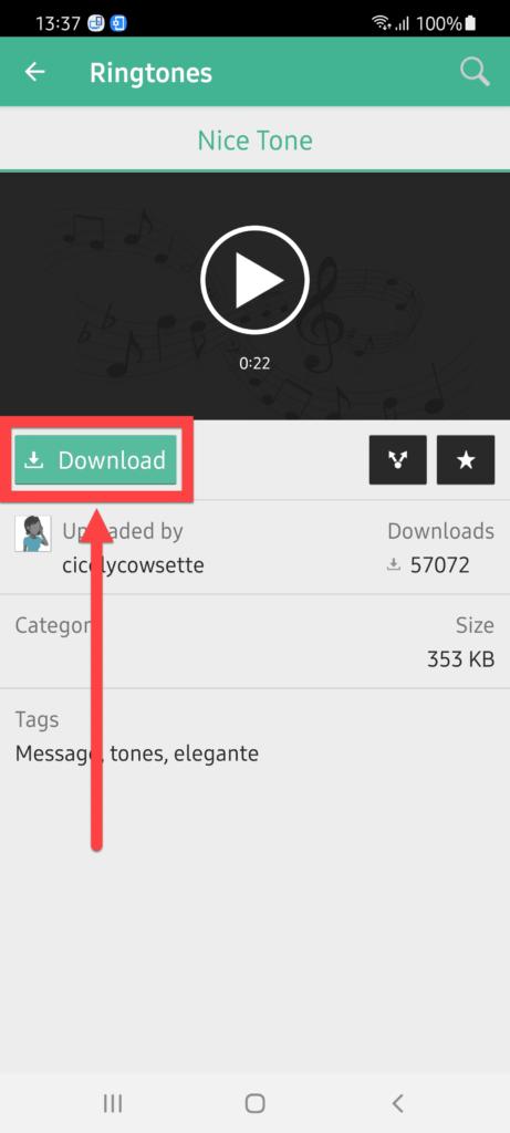 MTP – Ringtones & Wallpapers Андроид нажимаем Download